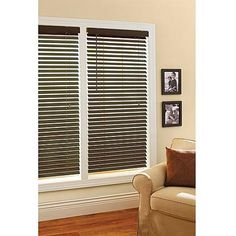 "Better Homes and Gardens 2"" Faux Wood Windows Blinds, Espresso"