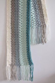 Zomerse Ibiza sjaal - draad en praat..., #haken, gratis patroon, Nederlands, shawl, das, #haakpatroon