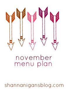 Shannanigans: November's Menu Plan: Fun Size Snicker Casserole