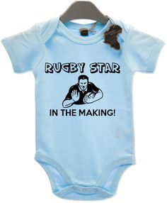 4cae51b20 Rugby Star in the Making Funny Boys Girls Babygrow Unisex All Sizes +  Colours Tee Baby Grow Jump Body Suit