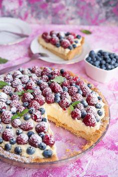 Sweet Desserts, Sweet Recipes, Cookie Recipes, Dessert Recipes, Healthy Deserts, Sweets Cake, Food Cakes, Homemade Cakes, No Bake Cake