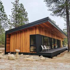 From beautiful Container Home. I watch Grand Designs on Netflix and i see people building houses for -… Container Home Designs, Building A Container Home, Container House Plans, Container Homes, Shipping Container Cabin, Small House Design, Modern House Design, Casas Containers, Prefab Homes