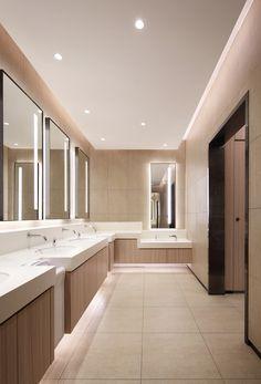 深圳万象汇 Shenzhen New Mixc on Behance Spa Interior, Interior Design, School Architecture, Architecture Design, Wc Public, Commercial Toilet, Mall Design, Restroom Design, Public Bathrooms