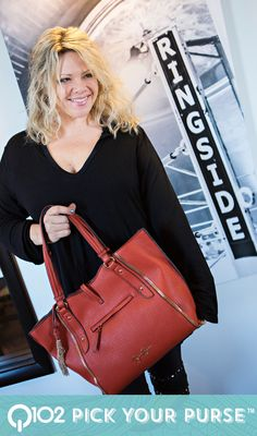 Jessica Simpson - Sienna Tote in paprika. Go to wkrq.com to find out how to play Q102's Pick Your Purse!