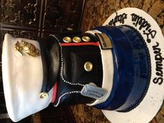 Marine cake...have a friend who would love this!