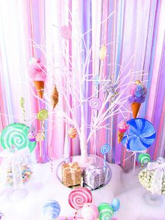 Candyland Party Always look like a woman. A Glittery Christmas Candy Land Party pansies. Candy Land Christmas, Christmas Holidays, Christmas Tables, Merry Christmas, Sugar Rush, Candy Land Theme, Wreck It Ralph, Candy Party, Birthday Parties