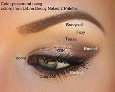 naked 2 palette looks for green eyes