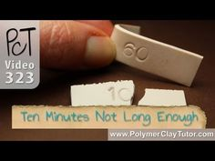 How Long Do You Bake Polymer Clay?  Bake it for 60 minutes.                                        Ten Minutes is definitely NOT long enough to bake polymer clay. A side by side comparison that proves why polymer clay must be baked properly. If you ignore this advice, your projects will break.   More Tutorials at http://www.youtube.com/user/PolymerClayTutor/videos?sort=daview=0flow=grid