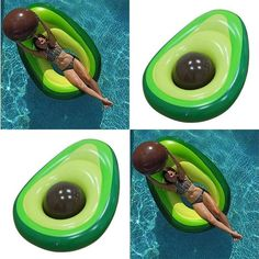 YUYU Avocado Swimming Ring Inflatable Swim Giant Pool Float for Adults for pool Tube circle Float Swim Pool Toys Cute Pool Floats, Giant Pool Floats, Pool Floats For Adults, Pool Toys For Adults, Pool Pool, Swimming Pool Toys, Swimming Pool Inflatables, Pool Rafts, Pool Backyard