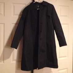 Image result for gap black trench coat