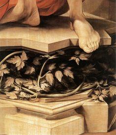 Matthias Grünewald - Saint Sebastian. Isenheim Altarpiece. Detail. 1515