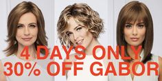 Save off all Gabor toppers, wigs, and extensions today tomorrow through Saturday Discounts cannot be combined. Gabor Wigs, 30th, Knowledge, Day, Quotes, Quotations, Consciousness, Qoutes, Shut Up Quotes