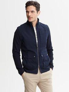 upgrade his casual jacket: Three-Pocket Zip Jacket | Banana Republic