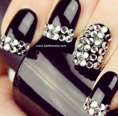 Black diamond nails