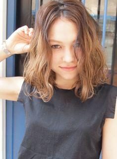 外国人風 ★ ほつれWAVE BOB/LOAVE OMOTESANDOの髪型・ヘアスタイルカタログ
