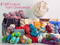 Yarn giveaway, Chandi has awesome yarn