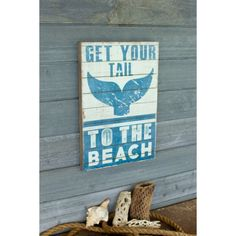To the Beach Sign 258 Painted Fox Home, Beach Signs Wooden, Beach Print, Wall Decor, Wall Art, Farmhouse Signs, Hello Beautiful, Blue Line, Home Signs
