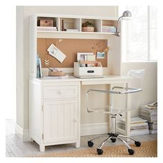 PB Teen Beadboard Space-Saving Desk, Chestnut at Pottery Barn Teen -... ($479) ❤ liked on Polyvore featuring home, furniture, desks, wood hutch, magnetic cork board, wood furniture, dark brown desk and space saving desk