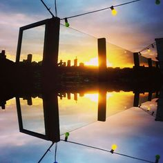 Melbourne at its very best #nakedforsatan #city #view #sunset #melbourne