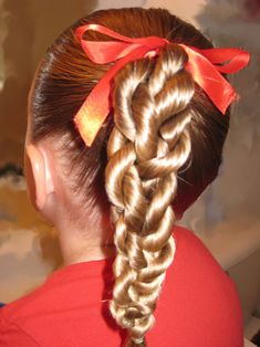 Rope/Twist Braid Ponytail