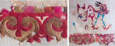 Рис. 4.9. Фрагмент войлочного ковра с изображением феникса. Пятый Пазырыкский курган. Эрмитаж, № 1687-95