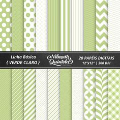 Basic Papers Kit – Light Green – Nilmara Quintela Paper Designer