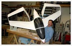 Synergy Aircraft scale model with its creator, John McGinnis. Now building the test aircraft! Fuel Economy Cars, Bush Plane, Save Fuel, Future Transportation, Air Force Aircraft, Experimental Aircraft, Diesel Fuel, Futuristic Design, Aircraft Design