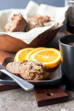 Nourishing vegan almond, apple and banana muffins made with mixed flours and a good dose of LSA are a healthy snack or breakfast on the go.