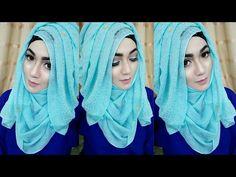 Most Requested Tutorial easy Layered look Hijab Style with saree Kamij Simple Hijab Tutorial, Hijab Style Tutorial, Stylish Hijab, Hijab Chic, Hijab Wear, Hijab Outfit, Turban Hijab, Hijab 2016, Muslim Fashion