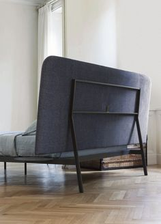 Double bed with removable cover with high headboard CONTRAST BED by Bonaldo design Alain Gilles
