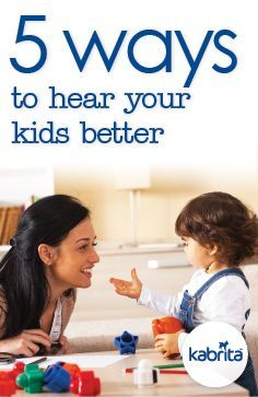Getting kids to listen to us is one thing, but what about listening to them? Here are 5 ways for parents to be better active listeners