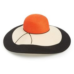 Eugenia Kim Colorblock Sun Hat ( 455) ❤ liked on Polyvore featuring  accessories 22e817d91753