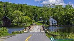 Summer time at the Brookfield floating bridge in Brookfield Vermont.  #vermont #newenglandphotography #newengland #landscape #newengland_photography #ScenicVermontPhotography #ScenicVermont #VT #Ilovermont