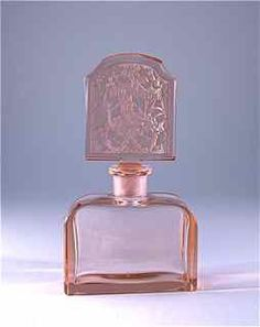 c1930 Hoffman Czech Perfume Bottle Intaglio