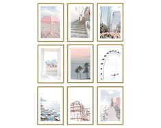 dorm room ideas for girls room teen bedroom designs pastel home decor photo collage wall kit Bathroom Wall Art, Kitchen Wall Art, Office Wall Decor, Wall Art Decor, Pink Wall Art, Pastel Art, Wall Collage, Canvas Art Prints, Travel Photography