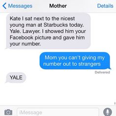 My mom would do this