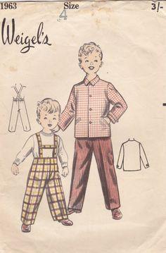 1940s 1950's Sewing Pattern Weigel's 1963 by jennylouvintage