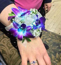 Valentine's Day dance corsage! #floral #flower #florist #princeton #floraldesign #corsage #blueorchid #nj #valentinesday #shoplocal #prom #schooldance
