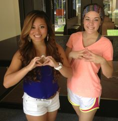 Phi Mu and Alpha Gamma Delta <3 throwing what we know!