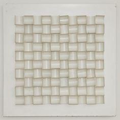 Ivan Picelj (Okučani, 1924 – Zagreb 2011) / Candidus, 1966 / obojeni metal-reljef, 89,5 x 89,5 cm