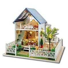 Samber DIY Doll House Nordic Holidays Wooden Plastic Deco...