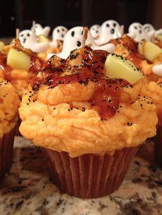 Jumbo Halloween Cupcake Candle by SweetShoppeCandles on Etsy, $12.95