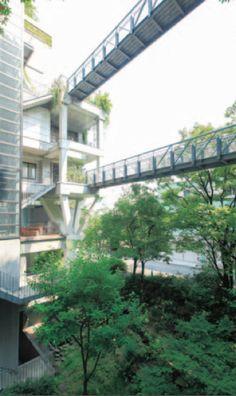 Green facade view