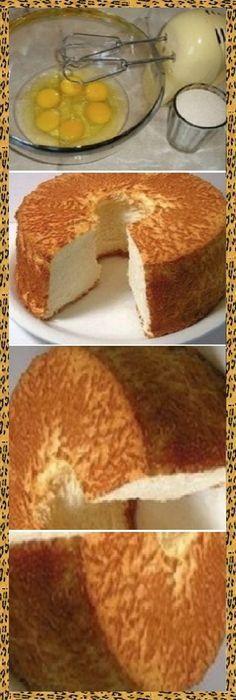 Bizcocho esponjoso Gourmet Recipes, Sweet Recipes, Cake Recipes, Dessert Recipes, Pan Dulce, Sweets Cake, Cupcake Cakes, Brownie Desserts, Angel Food Cake