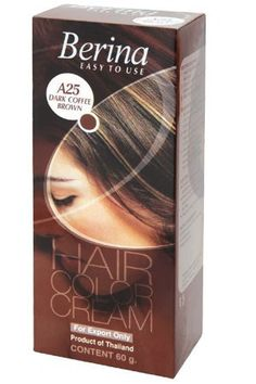 Berina Permanent Hair Dye Color Cream (A25 Dark coffee Brown) ** Learn more by visiting the image link.