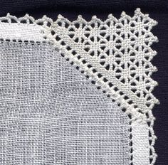 Puncetto as it is commonly known today, has many other names, Punto Avorio being one of them. This needle lace is very attractive and thoug. Hardanger Embroidery, Beaded Embroidery, Needle Lace, Needle And Thread, Crochet Baby, Knit Crochet, Drawn Thread, Lacemaking, Linens And Lace