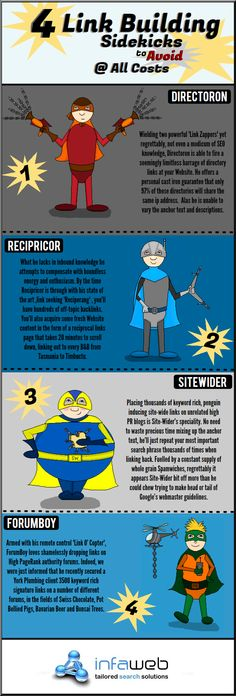 4 Link Building sidekicks to avoid 2013 #infografia #infographic #seo