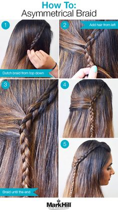 Try this cool how-to to update a french accent braid into an asymmetrical look that's perfect for a summer night.