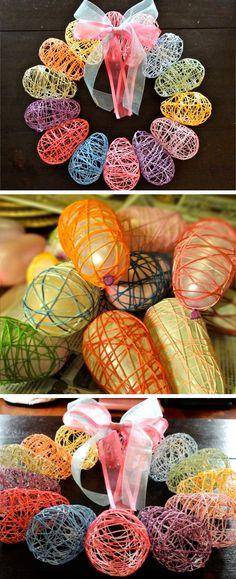Ovo De Pascoa Barbante Com Coelho EVA Easter Table DecorationsCraft DecorationsDiy