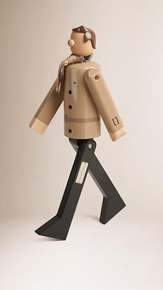 Multicolour Mr Trench Limited Edition Wooden Puppet - Image 1